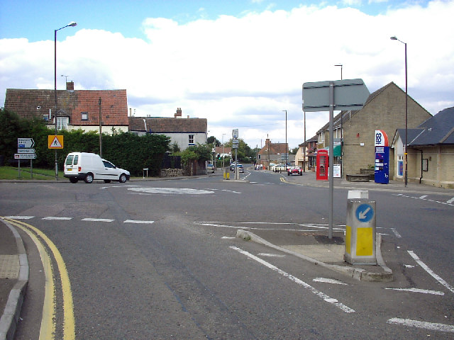 Road junction, Lower Cam