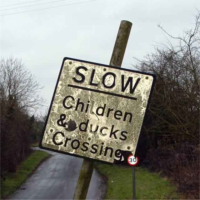 Footbridge sign