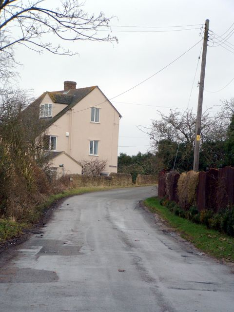 Approach to the old Station in South Leigh