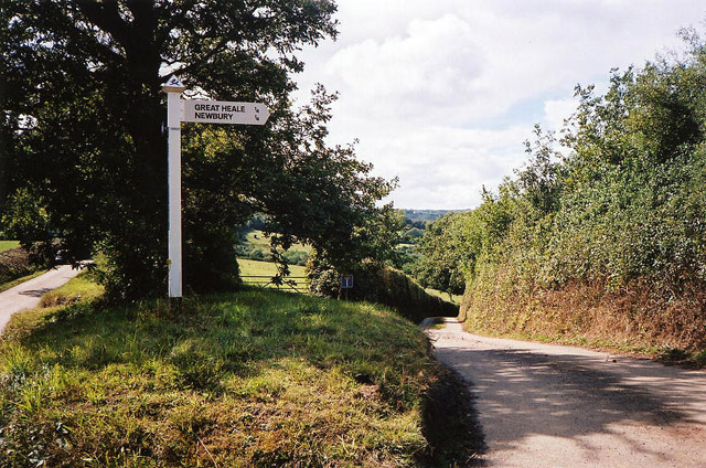 Colebrooke: lane to Newbury and Great Heale