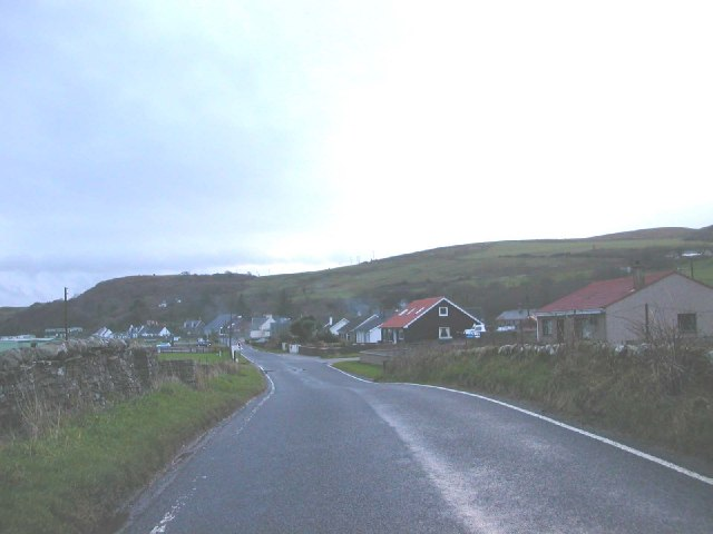 Peninver village on B842 to Campbeltown, Kintyre.