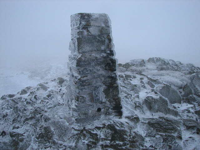 Trig point on High Seat