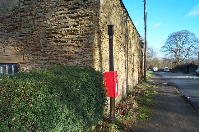 Post box near Blackwell