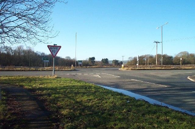 Road junction near Alfreton