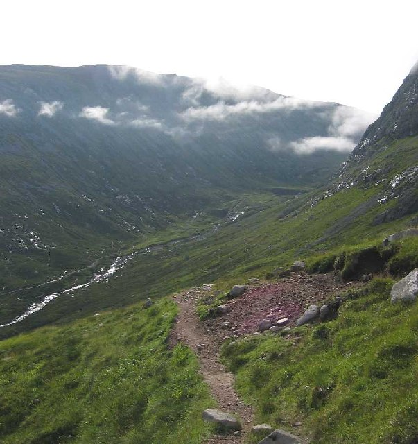 Pathway down to Coire Leis