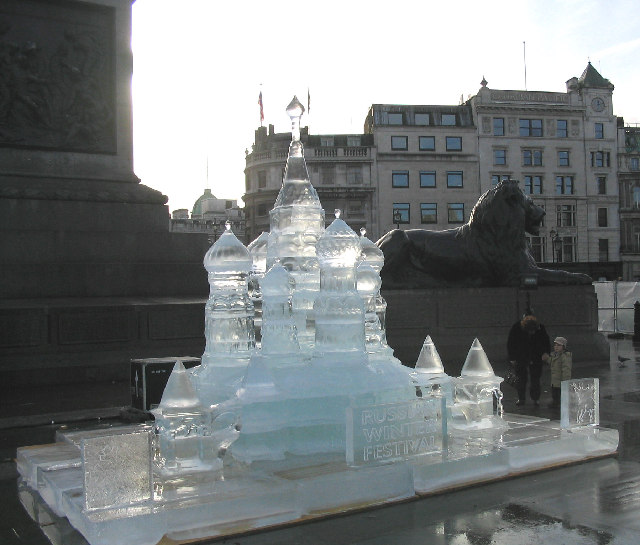 'Red Square' in Trafalgar Square