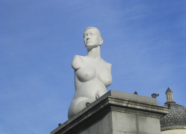 "Sculpture entitled ""Alison Lapper Pregnant"""