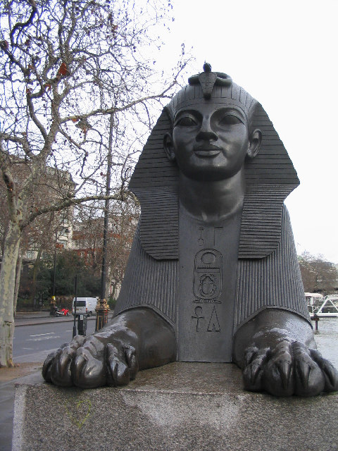 Guarding Cleopatra's Needle