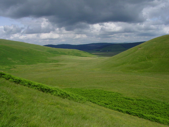 The upper part of Glenochar near Elvanfoot