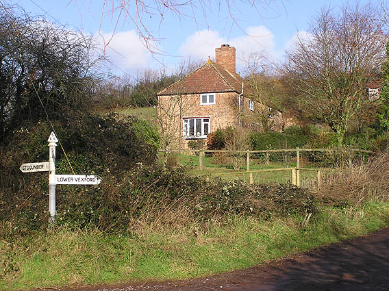 High Vexford, (showing road to Lower Vexford)