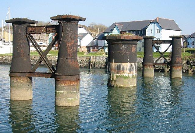 Piers from an old Railway Bridge
