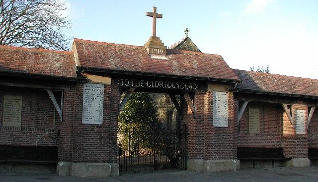Inscription on Burnhope War Memorial