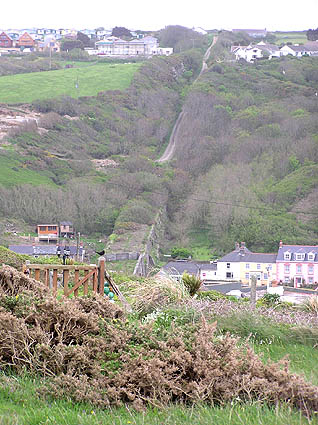 Portreath, the old railway incline