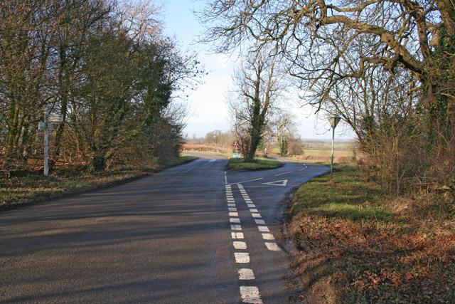 Road Junction near Keyham