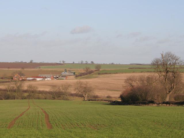 Farmland near Keyham, Leicestershire