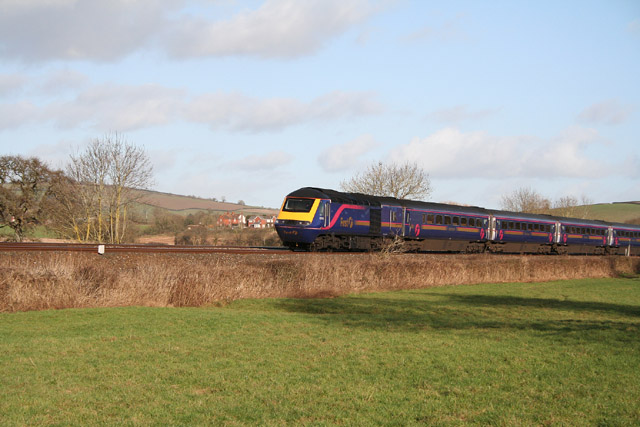 Silverton: First Great Western train heading for Exeter