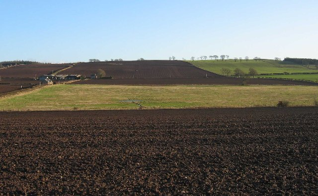 Whitehillfoot in a ploughed landscape