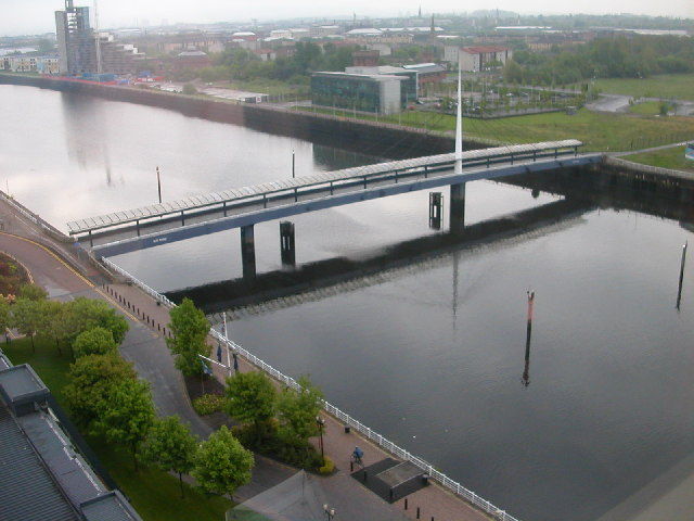 Swing bridge over the River Clyde by the SECC, Glasgow