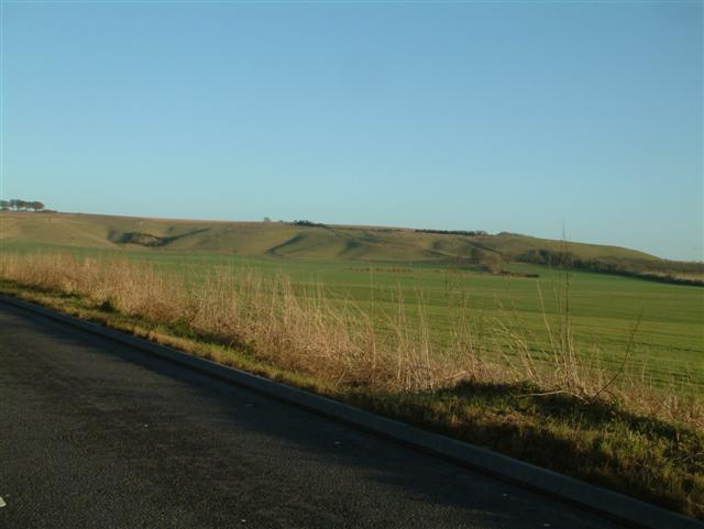 Looking South East towards Monkton Down