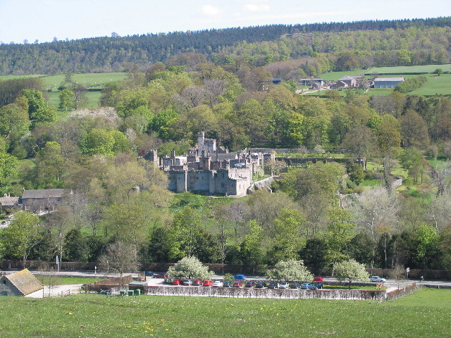 Haddon Hall from across the valley
