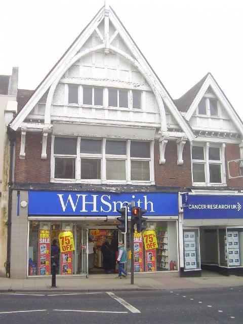 W.H Smith, 101 High Street, Dorking RH4 1AL...looking North West