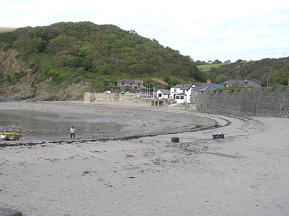 Polkerris from the harbour wall