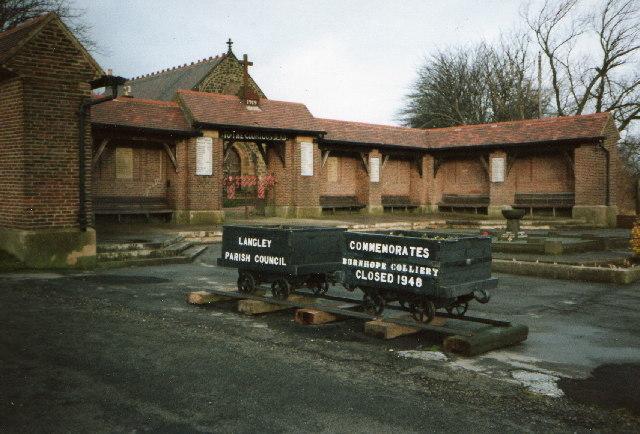 Burnhope War Memorial in 1992