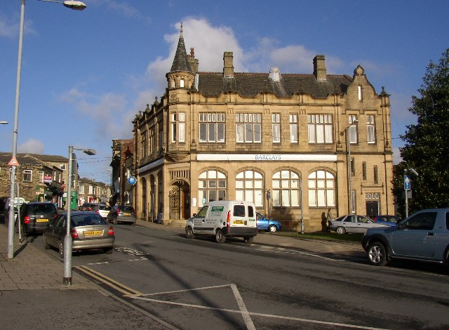 Barclays bank building, High Street, Cleckheaton