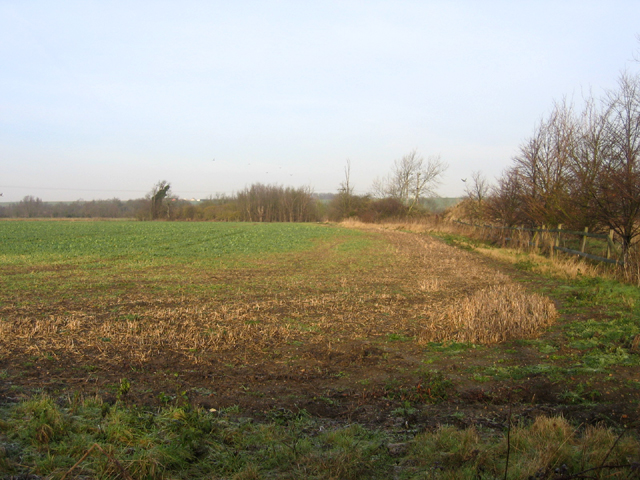 View NW across the Cam valley, Shingay, Cambs