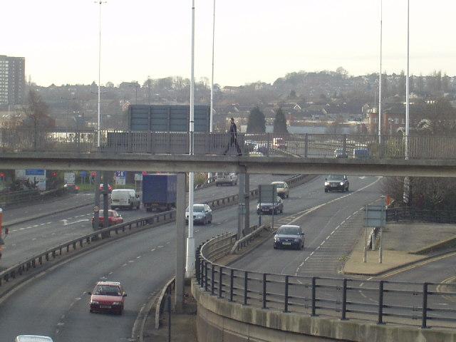 Footbridge over Leeds Inner Ring Road