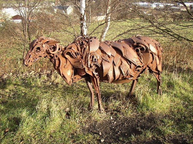Close-up of Scrap Metal Sheep, Spen Valley Greenway, Liversedge