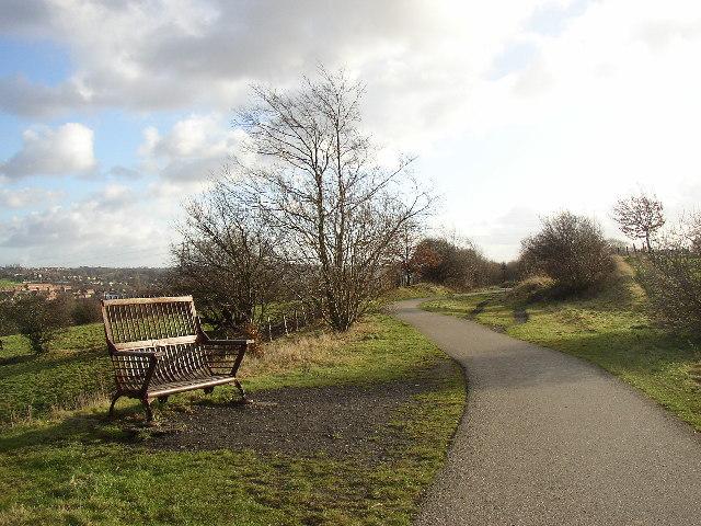 Artistic seat, Spen Valley Greenway, Liversedge