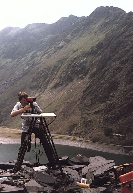 Surveyor Mapping Mountain Topography