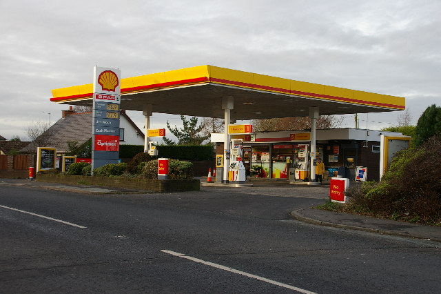 The Shell Garage, Mellor Brook