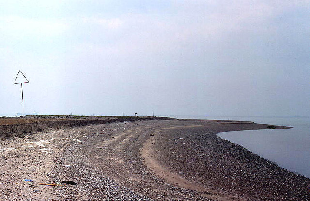 Artificial island, Thames estuary, north side looking west