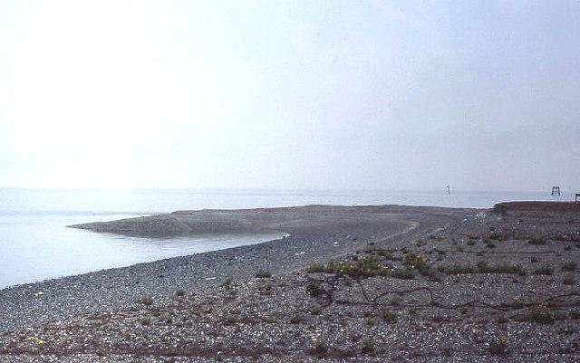 Artificial island, Thames estuary, looking east