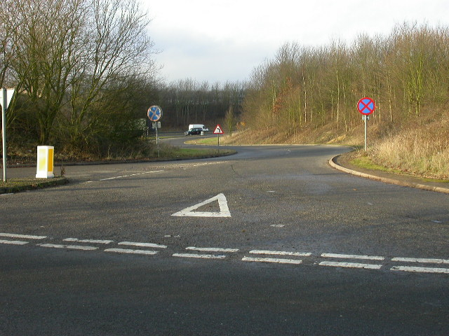 Slip road to the A45