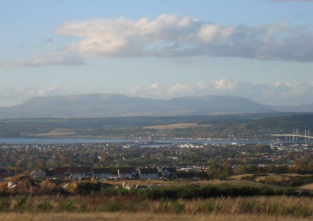 Looking over Inverness to Ben Wyvis