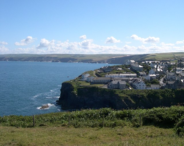 Looking across Port Isaac