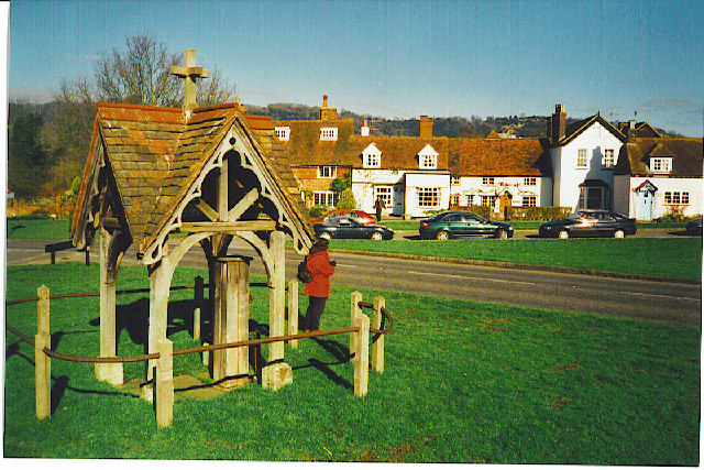 The old pump and well at Brockham