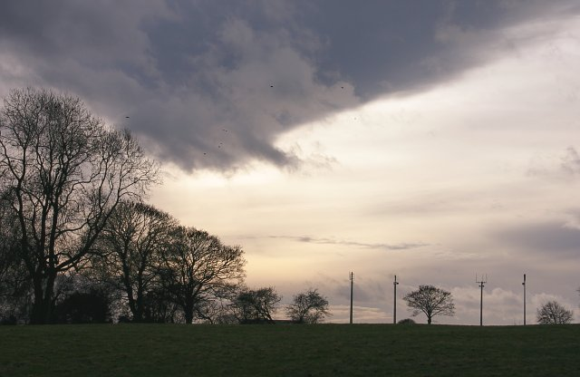 Telecoms masts above Kirkbymoorside