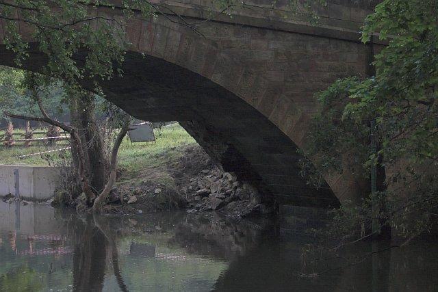 Damaged bridge over the Rye