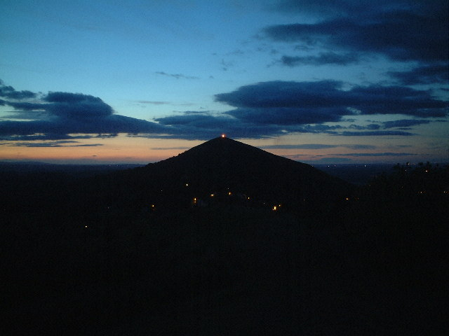 Worcestershire Beacon Alight - Queen's Golden Jubilee
