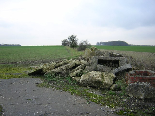 Remnants of an airfield