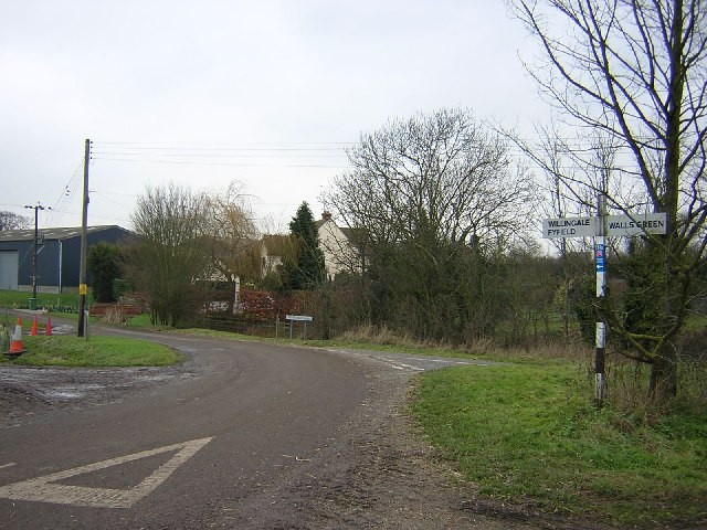 Signpost at a country junction