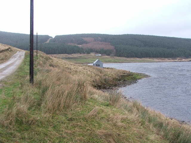 Boathouse on western shore of Lussa Loch (Res).