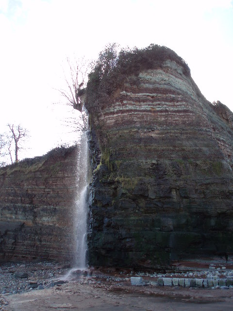 Waterfall between Doniford and St. Audries Bay