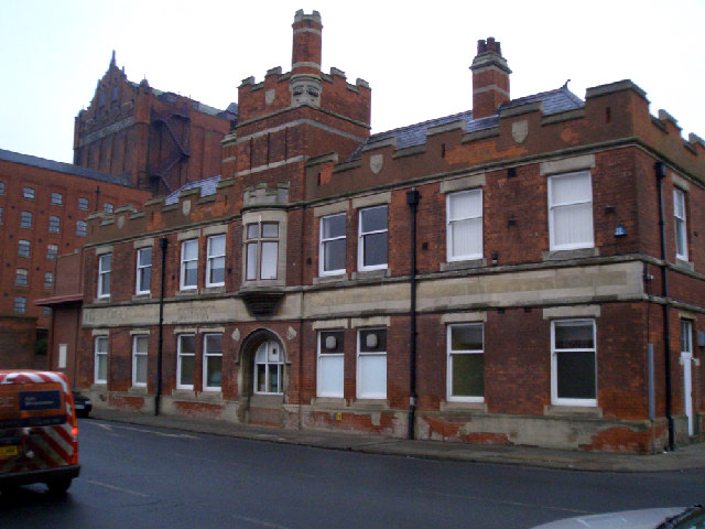 The old Castle Press Building, Grimsby