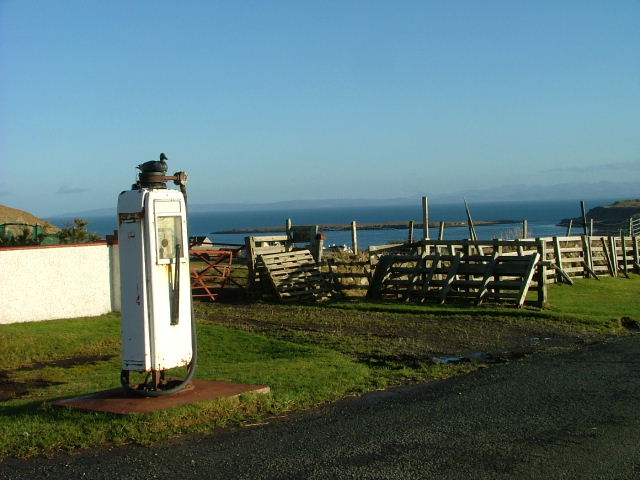 Redundant  petrol pump at Balmeanach