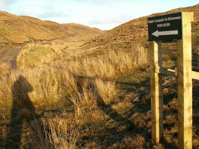 Public footpath to Kilchrenan
